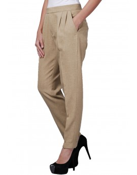 Nicole Pants in Yellowish Khaki