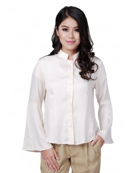 Sophie Blouse in White Smoke