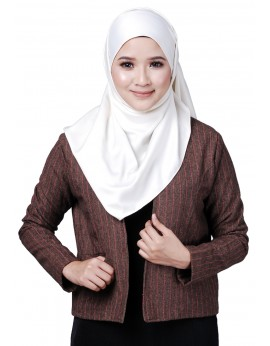 Eva Tweed Wool Jacket in Brown